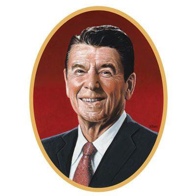 Ronald Reagan cardboard cutout