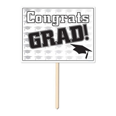 Plastic 11 Inch x 15 Inch Graduation Yard Sign