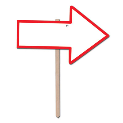 Blank Arrow Shaped Yard Sign