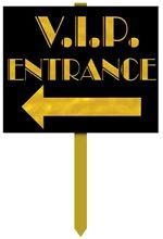 VIP Entrance Yard Sign Hollywood Rock Star