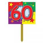 Number 60 Yard Sign
