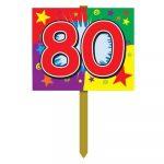 Number 80 Yard Sign