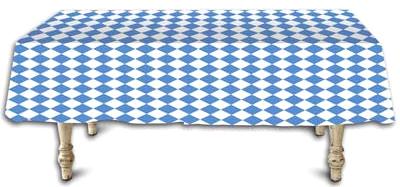 Blue White Diamond Printed Plastic Table Cover