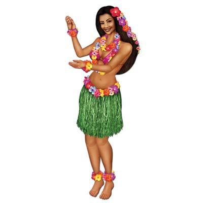 Jointed Cardboard Hula Girl