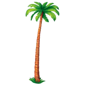 6 Foot Jointed Palm Tree Cutout
