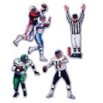 Football Players Referee Cutouts Super Bowl Playoff Team