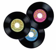 """9 Inch Plastic """"45 RPM"""" Records"""