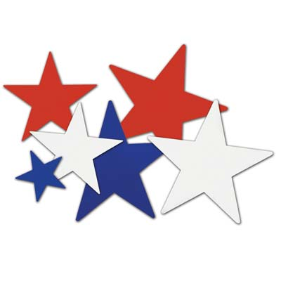 Red White and Blue Star Cutouts 9 Pack