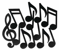 Large Musical Note Cutouts