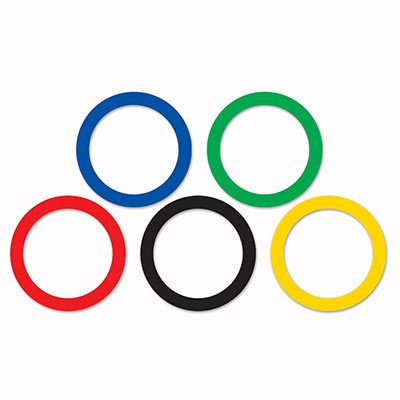 Sports Party Rings to Decorate for Olympic Games Parties
