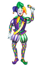 Mardi Gras Jointed Jester Cutout Wall decor