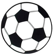 13 1/2 Inch Soccer Ball Cutout Olympic