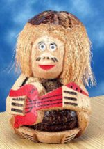 Coconut Man with Guitar