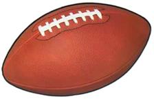 Super Bowl Playoff Team Football Cutout