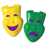 Large Comedy and Tragedy Faces