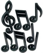 3-D Musical Notes