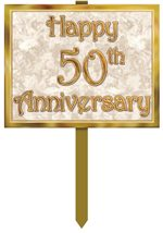 50th Anniversary Yard Sign