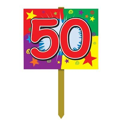 Number 50 Yard Sign