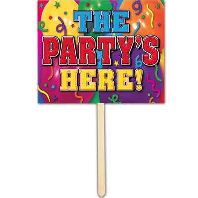 The Party's Here Yard Sign