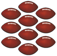 Mini Football Cutouts