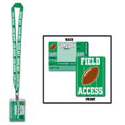 "Game Day Football ""Field Access"" Name Badge w/ Lanyard"