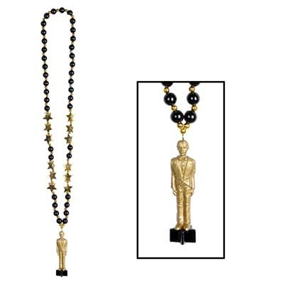 Oscar statue beaded necklace