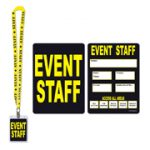 Party Pass I.D. On Lanyard  - EVENT STAFF