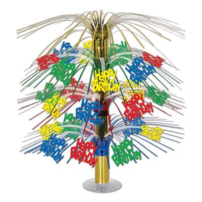 Party//Celebration//Decoration MULTI COLOUR Birthday Age CASCADE CENTREPIECES