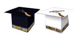 Graduation Hat Box - Black or White