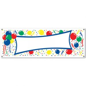 Balloons Sign Banner