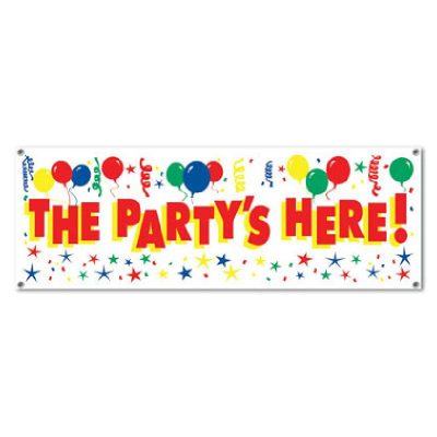 The Partys Here! Banner