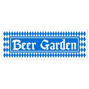 Beer Garden Plastic Banner