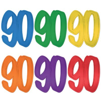 Number 90 Colorful Cutouts