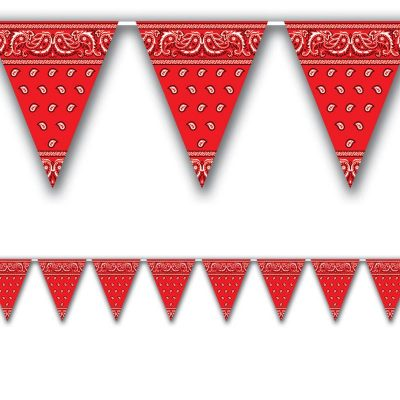 Red Western Pennant Banner