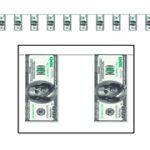 $100 Bill Pennant Banner Casino Monte Carlo