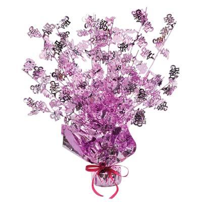 Its A Girl Balloon Weight Gleam N Burst Centerpiece