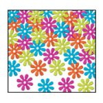 Retro Flowers Multi Color Confetti