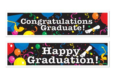 Graduation banner Congratulations, Happy Graduation