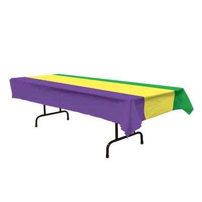 Purple Green Gold Table Cover