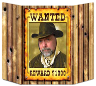 "Western ""Wanted Poster"" Photo Prop"