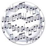 Musical Notes 7 Inch Paper Plates