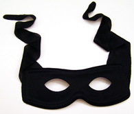 Zorro Style Black Mask with Ties