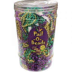 Mardi Gras Pail o' Beads Throw Necklaces