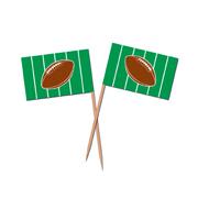 Football Toothpick Flags
