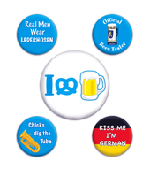 Round Oktoberfest Party Buttons
