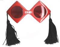 Graduation Sunglasses with Tassles - Assorted Colors
