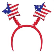Patriotic Star Head Bopper - R/W/B