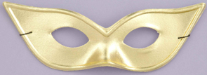 Gold Metallic Cats Eye Half Mask