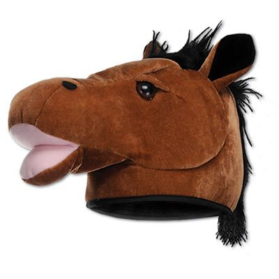 Deluxe Plush Fabric Horse Head hat