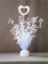Iridescent Heart Balloon Centerpiece